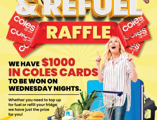 Wednesday refill and refuel raffle